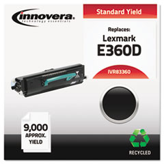 Remanufactured E360H21A (E360D) Toner, 9000 Yield, Black