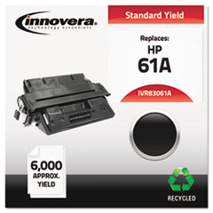 Remanufactured C8061A (61A) Laser Toner, 6000 Yield, Black