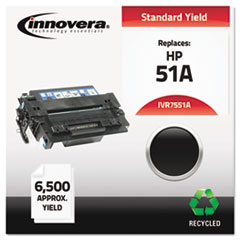 Remanufactured Q7551A (51A) Laser Toner, 6500 Yield, Black