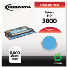 Remanufactured Q7581A (503A) Laser Toner, 6000 Yield, Cyan