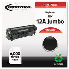 Remanufactured Q2612X (12J) Laser Toner, 4000 Yield, Black