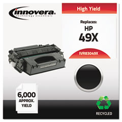 Remanufactured Q5949X (49X) Laser Toner, 6000 Yield, Black