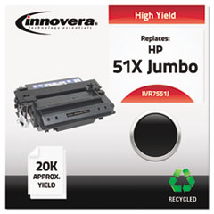 Remanufactured Q7551X(J) (51XJ) Laser Toner, 20000 Yield, Black