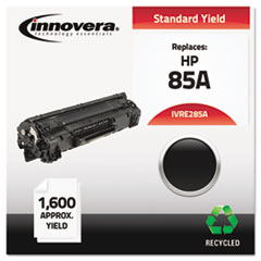 Remanufactured CE285A (85A) Laser Toner, 1600 Yield, Black