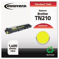 Remanufactured TN210Y Toner, 1400 Page-Yield, Yellow