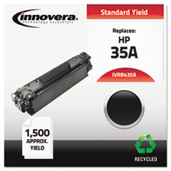 Remanufactured CB435A (35A) Laser Toner, 1500 Yield, Black