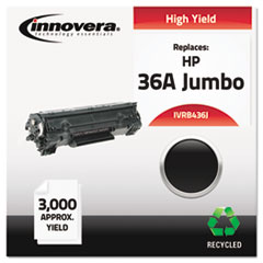 Remanufactured CB436A(J) (36A) Laser Toner, 3000 Yield, Black