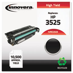 Remanufactured CE250X (504X) Laser Toner, 10500 Yield, Black