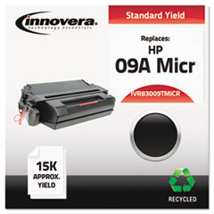 Remanufactured C3909A(M) MICR Toner, 15000 Yield, Black