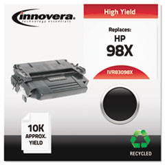 Remanufactured 92298X (98X) High-Yield Toner, Black - Compatible