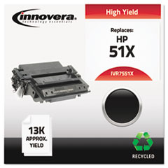 Remanufactured Q7551X (51X) Laser Toner, 13000 Yield, Black
