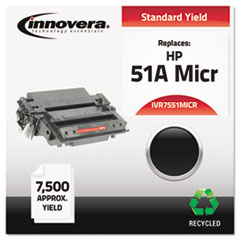 Remanufactured Q7551A(M) MICR Toner, 6500 Yield, Black