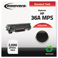 Remanufactured CB436A(M) (36A) MICR Toner, 1500 Page-Yield, Black
