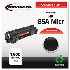 Remanufactured CE285A (85A) MICR Toner, 1600 Page-Yield, Black
