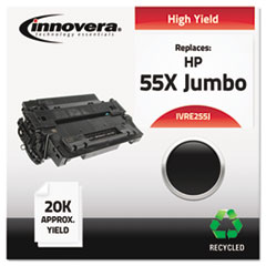 Remanufactured CE255X(J) (55J)  Toner, 18000 Yield, Black