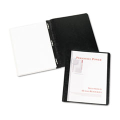 """Durable Clear Front Report Cover w/Prong Fasteners, 1/8"""" Cap, Clear/Black, 25/BX"""