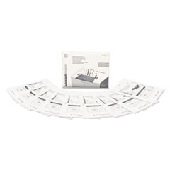 """Shredder Lubricant Sheets, 8 1/2"""" x 10 49/50"""", 12 Sheets/Pack"""