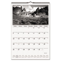Black & White Wall Calendar, 15 1/2 x 22 3/4, Scenic, 2015