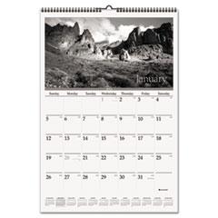 Black & White Wall Calendar, 15 1/2 x 22 3/4, Scenic, 2015