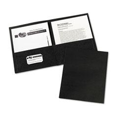 Two-Pocket Folder, 20-Sheet Capacity, Black, 25/Box