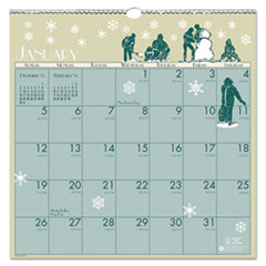 Illustrated Monthly Wall Calendar, 12 x 12, 2015