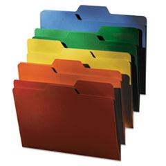 FindIt File Folders, 1/3 Cut, 11 Pt Stock, Letter, Assorted, 80/PK IDEFT07070