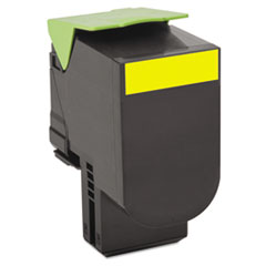 80C1XY0 Toner, 4000 Page-Yield, Yellow