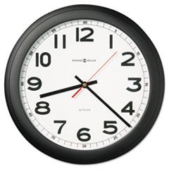 "Norcross Auto Daylight-Savings Wall Clock, 15-3/4"", Black, 1 AA MIL625509"