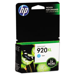 HP 920XL, (CD972AN) High Yield Cyan Original Ink Cartridge