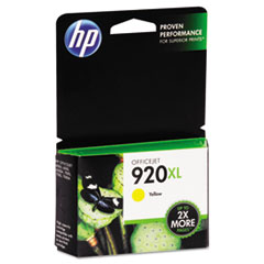 HP 920XL, (CD974AN) High Yield Yellow Original Ink Cartridge