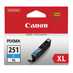 6449B001 (CLI-251XL) ChromaLife100+ High-Yield Ink, Cyan