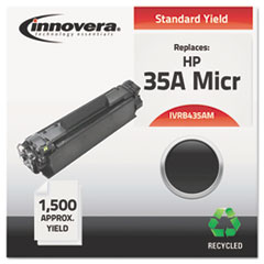 Remanufactured CB435A(M) (35AM) MICR Toner, Black