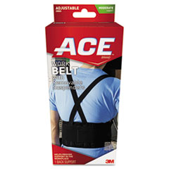 "Work Belt with Removable Suspenders, Fits Waists Up To 48"", Black MMM208605"