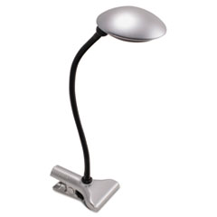 3W Clip-On Domed LED Desk Task Lamp, 8w x 18h, Silver