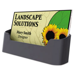 Business Card Holder, Capacity 50 3 1/2 x 2 Cards, Black UNV08109