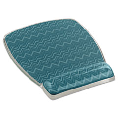 Fun Design Clear Gel Mouse Pad Wrist Rest, 6 4/5 x 8 3/5 x 3/4, Chevron Design