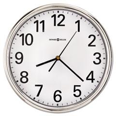 """Hamilton Wall Clock, 12"""", Silver, 1 AA MIL625561"""