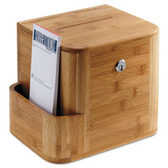 Bamboo Suggestion Box, 10 x 8 x 14, Natural