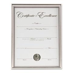 Back Loading Document, Silver Plastic, 8 1/2 x 11