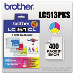 LC513PKS Innobella Ink, Cyan/Magenta/Yellow, 3/PK