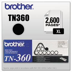TN360 High-Yield Toner, Black