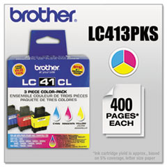 LC413PKS Ink, Cyan/Magenta/Yellow, 3/PK