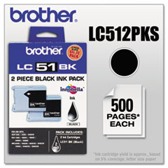 LC512PKS Innobella Ink, Black, 2/PK