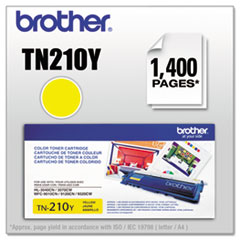 TN210Y Toner, 1400 Page-Yield, Yellow