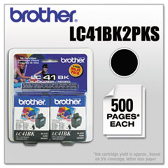 LC41BK2PKS Ink, Black, 2/PK
