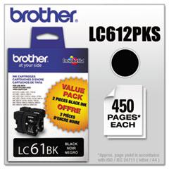 LC612PKS Innobella Ink, Black, 2/PK