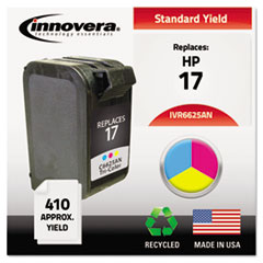 Remanufactured C6625AN (17) Ink, 410 Page-Yield, Tri-Color