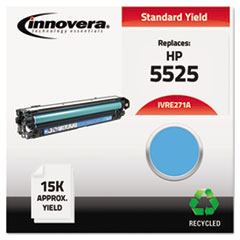 Remanufactured CE271A (5525) Toner, 15000 Page-Yield, Cyan
