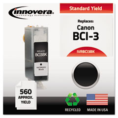 Remanufactured BCI-3BK (BCI3E) Ink, 560 Page-Yield, Black IVRBCI3BK
