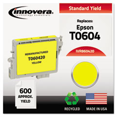 Remanufactured T060420 Ink, 600 Page-Yield, Yellow